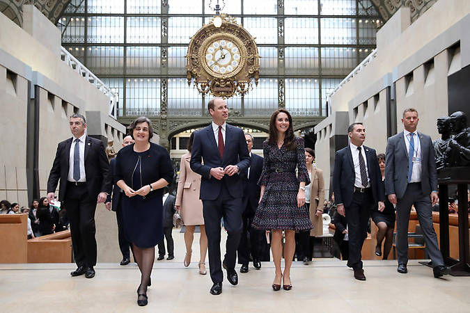 Prince William and Kate visited the Musee d'Orsay during their visit to Paris. Photo (C) GETTY IMAGESPrince William and Kate visited the Musee d'Orsay during their visit to Paris. Photo (C) GETTY IMAGES