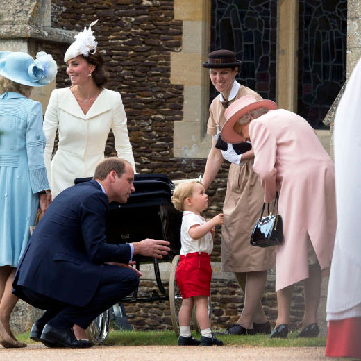 Prince William did it at Princess Charlotte's christening Photo (C) GETTY IMAGES