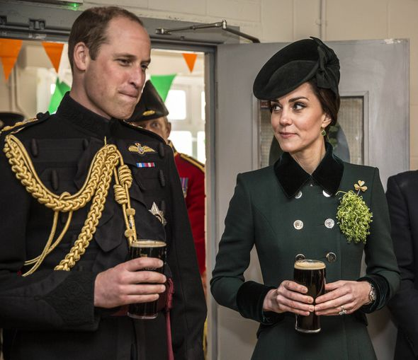 The Duke and Duchess of Cambridge put on a show of unity for the cameras and enjoyed a pint Photo (C) GETTY