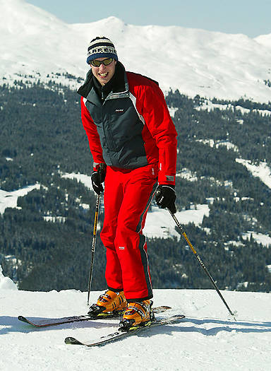 Prince William, pictured in Switzerland in 2004, is a talented skier Photo (C) GETTY IMAGES