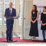 Prince William pictured with the Duchess of Cambridge and Anne Llewellyn the wife of the UKs ambassador spoke at a reception at the British Embassy