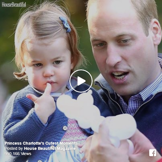 Princess Charlotte with Prince William on Canada Tour