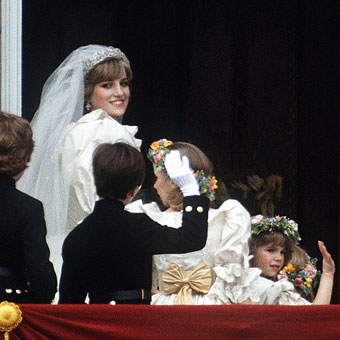 Princess Diana Wedding Day Photo (C) GETTY IMAGES
