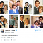 Princess Diana and Prince Charles they were the same height Photo C TWITTER
