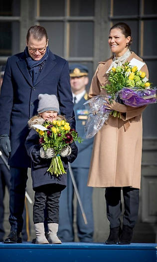 Baby Prince Oscar and Princess Estelle steal the show at mum Victoria's name day Photo (C) GETTY IMAGES