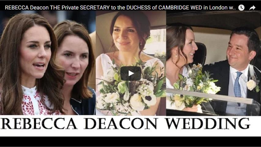 REBECCA Deacon THE Private SECRETARY to the DUCHESS of CAMBRIDGE WED in London with Adam Priestley