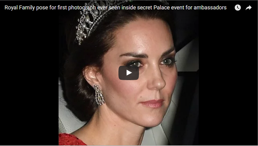 Video Royal Family pose for first photograph ever seen inside secret Palace event for ambassadors