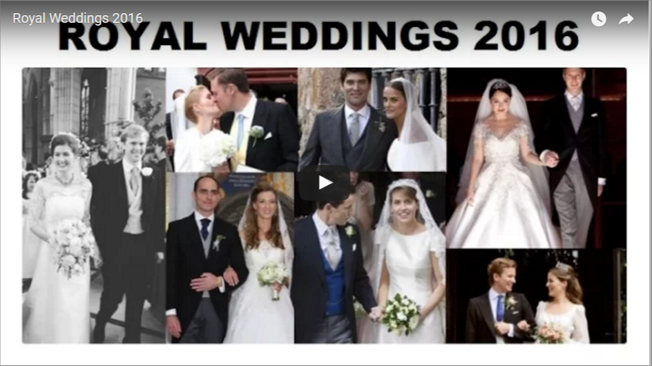 Royal Weddings 2016