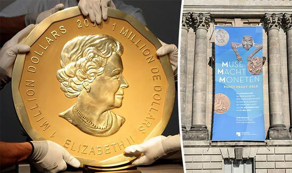 The Big Maple Leaf, worth £2.7mn, was stolen from a Berlin museum last night Photo (C) REUTERS