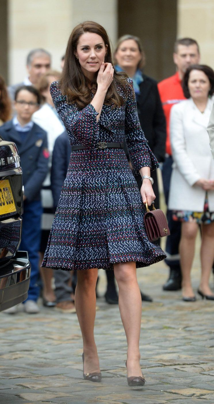 The Duchess of Cambridge represents Chanel style on her Paris outing Photo (C) AP