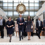 The Duke and Duchess both take a keen interest in art something which brought them together