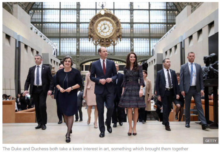 The Duke and Duchess both take a keen interest in art, something which brought them together