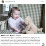 The Duke and Duchess of Cambridge are delighted to be able to share two new photographs of Princess Charlotte INSTAGRAM