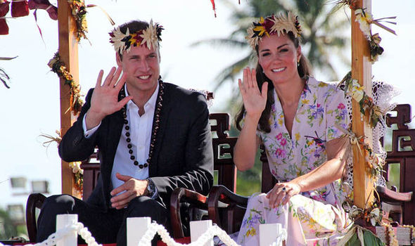 The Duke and Duchess of Cambridge are set to receive the highest award from Tuvalu Photo (C) GETTY