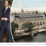 The Duke and Duchess of Cambridge took time to see the Musee DOrsay on their two day trip to Paris