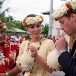 The royals visited the South Pacific island nation of nine tiny islands in 2012 Photo C GETTY