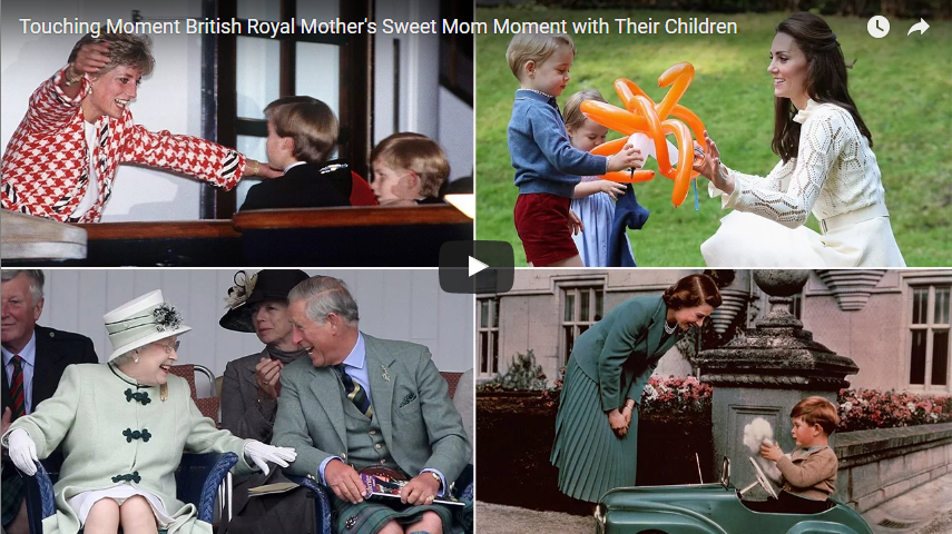 Touching Moment British Royal Mothers Sweet Mom Moment with Their Children