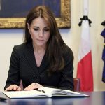 William and Kate visited the French embassy in Knightsbridge London to sign a book Photo C GETTY IMAGES