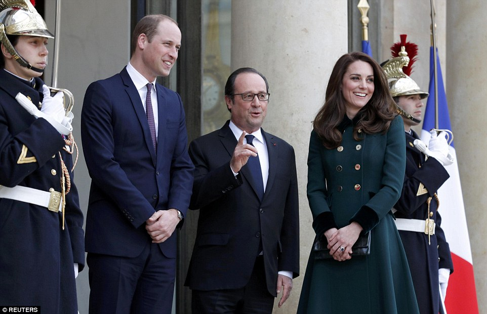 William and the French president held talks in what was the first meeting during the royals' two-day trip to France