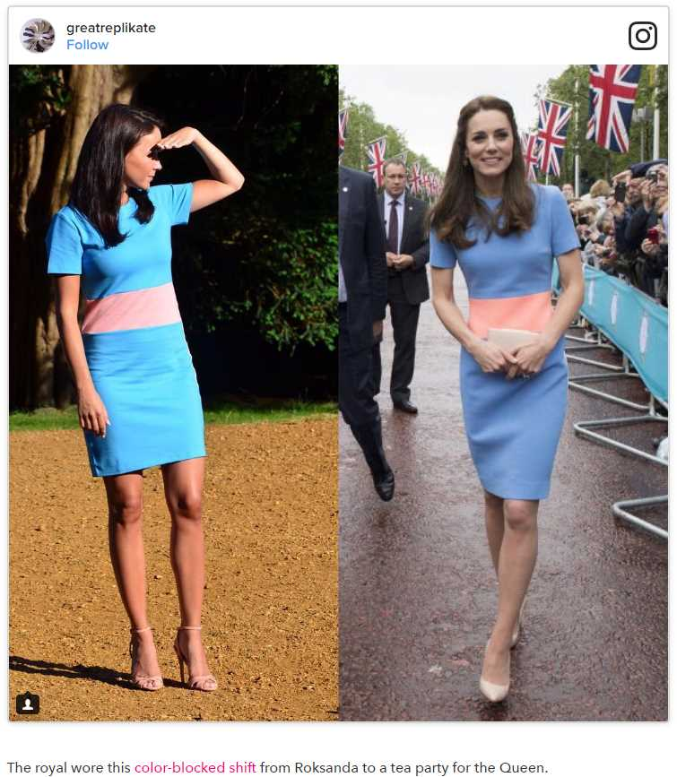 This Woman Loves Kate Middleton So Much She Copies Her Outfits Exactly Photo (C) GETTY IMAGES, INSTAGRAM