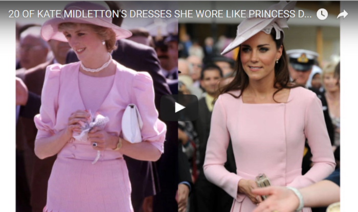 20 of Kate Midlettons Dresses She Wore like Princess Diana