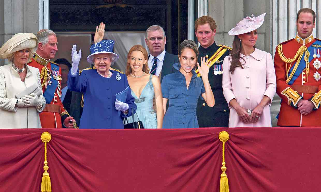 Kylie Minogue: practising the royal wave? Photograph: Antonelli//Rex/Shutterstock