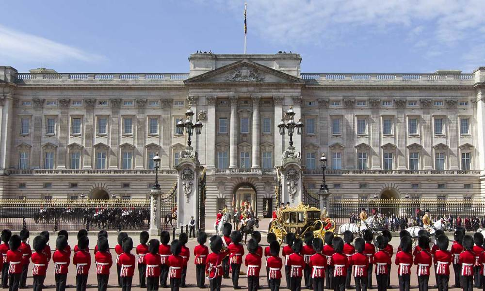 3 Buckingham Palace with 775 rooms Buckingham Palace is estimated to be worth £2.2 billion Photo C GETTY IMAGES
