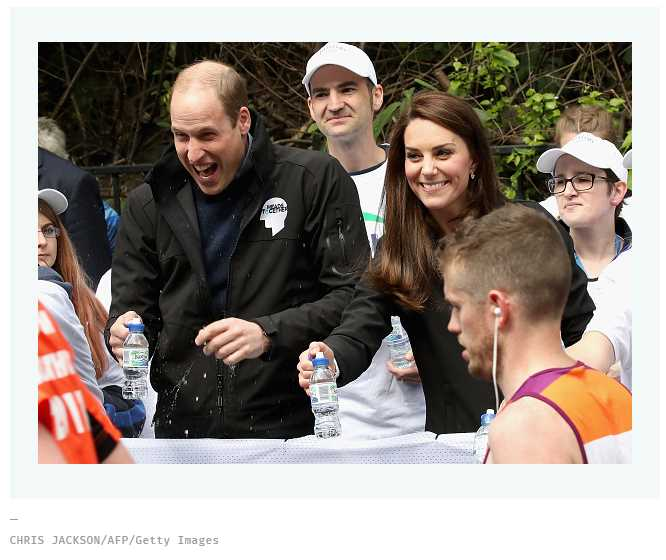 3 These photos of a London marathon runner squirting water on an amused Prince Williams face is our new favorite thing