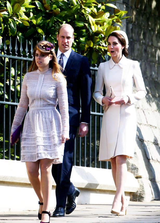 Catherine Duchess of Cambridge and Prince William attending Easter Church Service Photo (C) SWNS