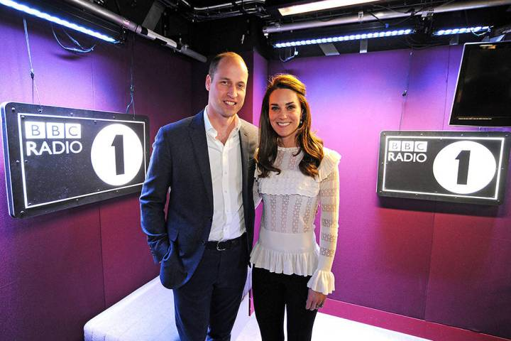 William and Kate joined DJs Scott Mills and Adele Roberts at Radio 1 Photo (C) KENSINGTON PALACE TWITTER