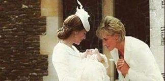 A Photoshopped image showing Princess Diana superimposed into a picture from Princess Charlottes christening has gone
