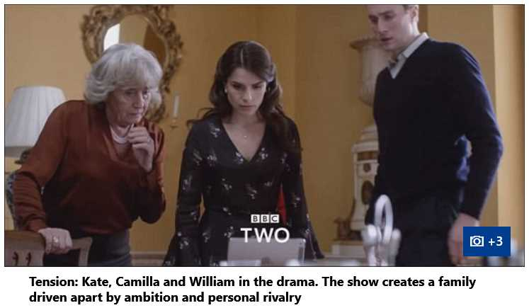 BBC2 Drama Camilla Parker, Prince William and Kate MIddleton