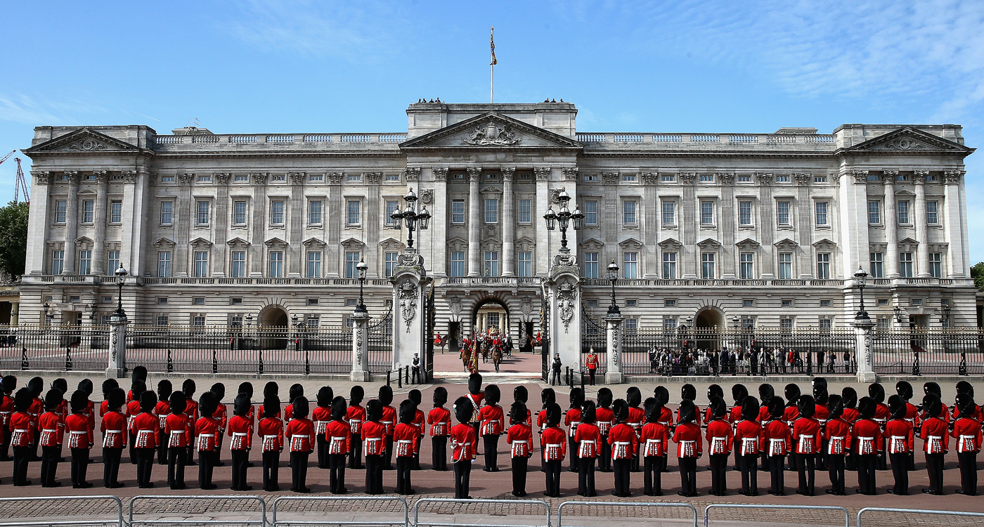 Buckingham Palace with 775 rooms Buckingham Palace is estimated to be worth £2.2 billion Photo C GETTY IMAGES
