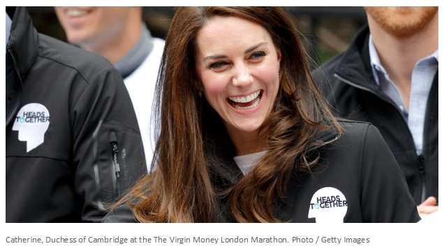 Catherine, Duchess of Cambridge at the The Virgin Money London Marathon