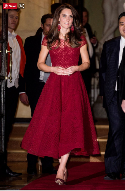 Duchess of cambridge, kate middleton, princess, Marchesa gown Photo (C) GETTY IMAGES