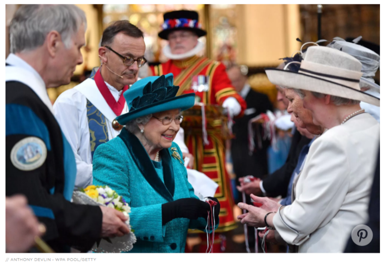 During the service the Queen distributes gifts according to the number of years she has lived