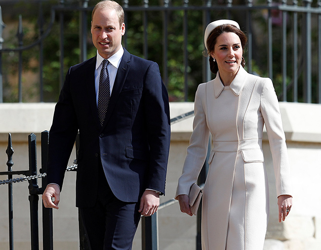Kate Middleton and Prince William attend the Easter service in Windsor Photo C GETTY IMAGES