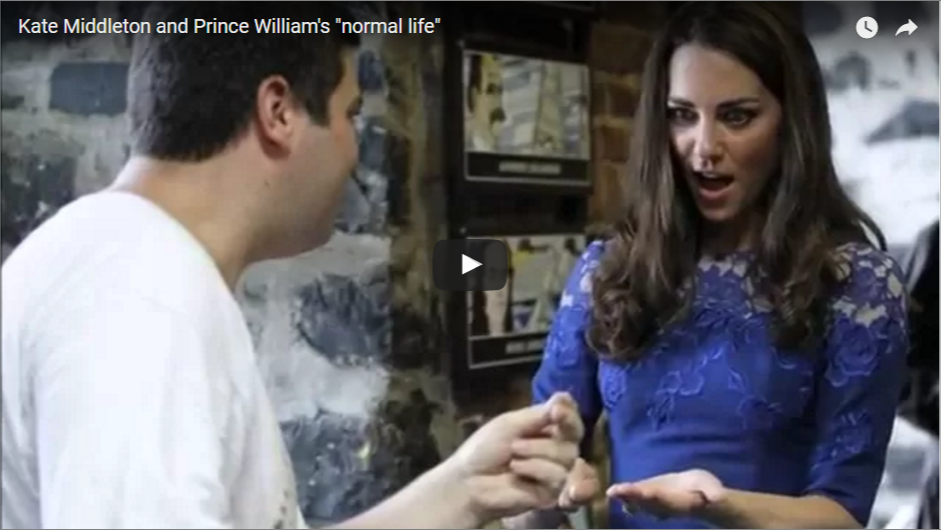 Kate Middleton and Prince Williams normal life