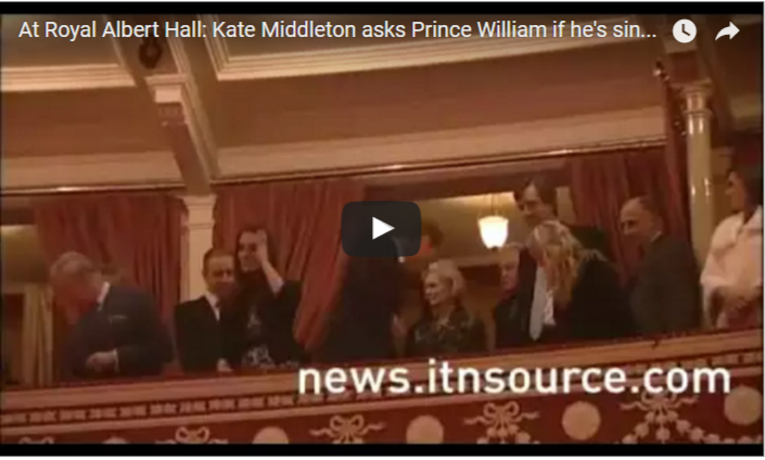 Kate Middleton asks Prince William if hes singing God Save the Queen