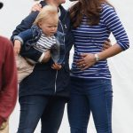 Kate Middleton usually greets people with a kiss on the cheek pictured here with Zara Phillips with her daughter Mia Tindall Photo C GETTY
