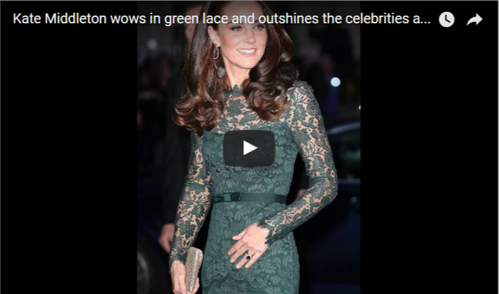 Kate Middleton wows in green lace and outshines the celebrities at National Portrait Gallery