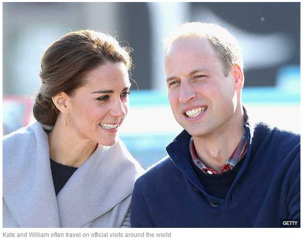 Kate and William often travel on official visits around the world