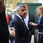 London Mayor Sadiq Khan outside Westminster Abbey Photo C REUTERS