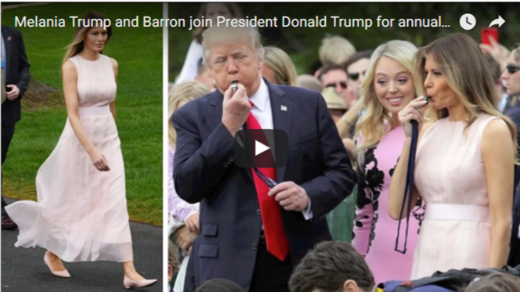 Melania Trump and Barron join President Donald Trump for annual Easter Egg Roll