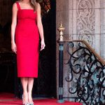 Melania Trump looked ravishing in a red Valentino mini dress Photo C GETTY IMAGES