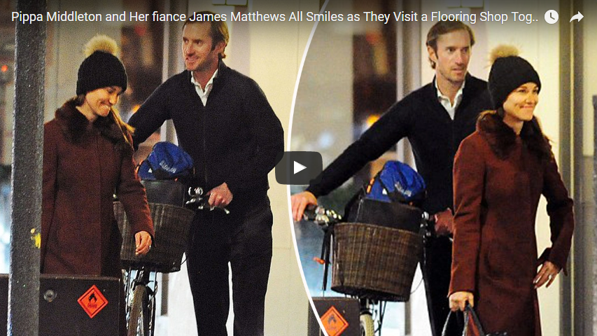 Pippa Middleton and Her fiance James Matthews All Smiles as They Visit a Flooring Shop Together