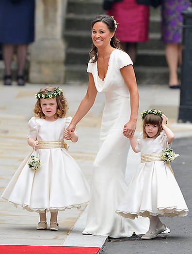 Pippa as Kate's maid of honour in 2011 Photo (C) GETTY IMAGES
