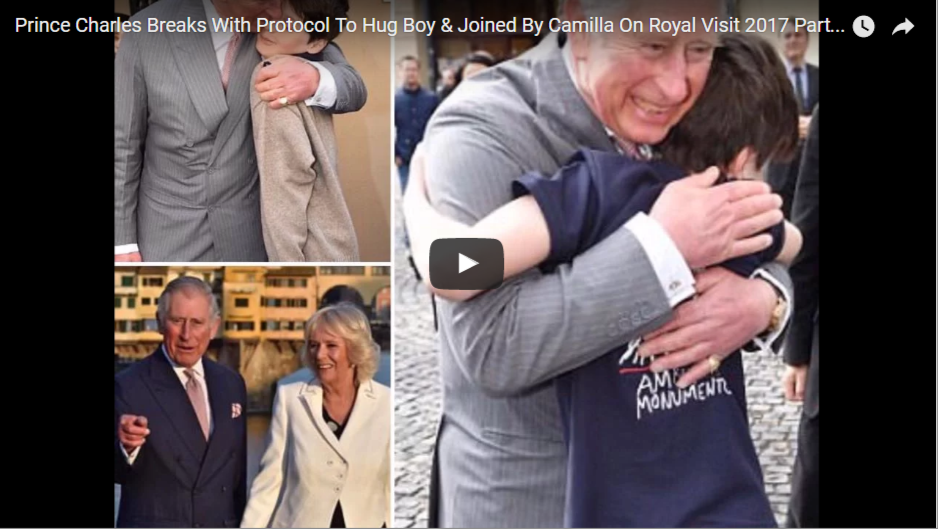 Prince Charles Breaks With Protocol To Hug Boy Joined By Camilla On Royal Visit 2017