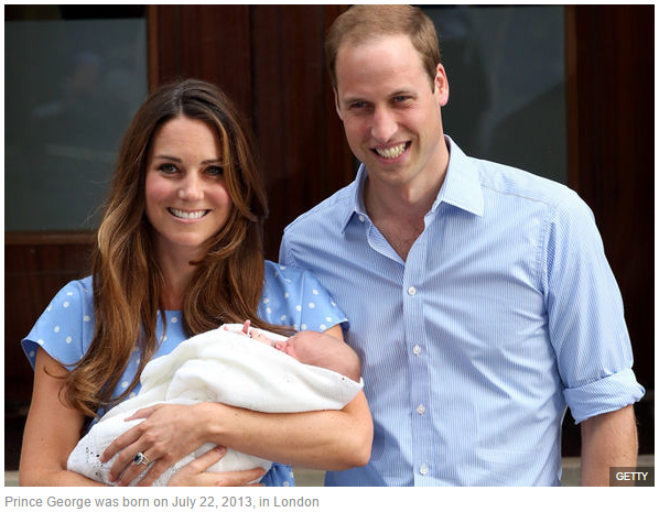 Prince George was born on July 22, 2013, in London