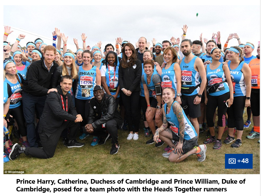 Prince William, Catherine Duchess of Cambridge and Prince Harry all started the race together by pushingPrince William, Catherine Duchess of Cambridge and Prince Harry all started the race together by pushing the red button the red button